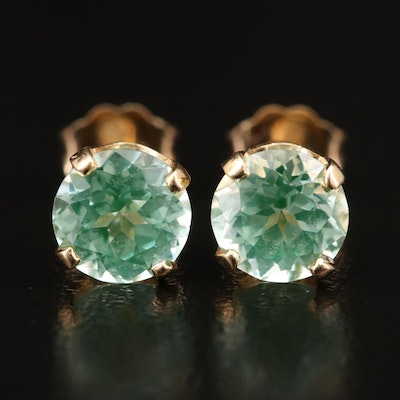 14K Spinel Stud Earrings