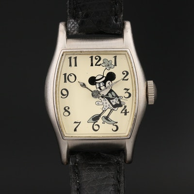 "1998 Disney ""Steamboat Willie"" Limited Edition Wristwatch Featuring Minnie Mouse"