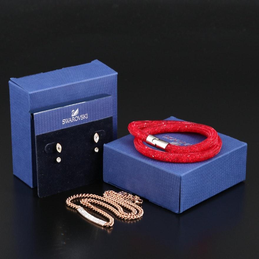 "Swarovski Crystal Jewelry Featuring ""Vio"" Necklace"