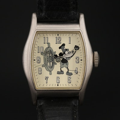 "Mickey Mouse ""Steamboat Willie"" Limited Edition Disney Quartz Wristwatch"