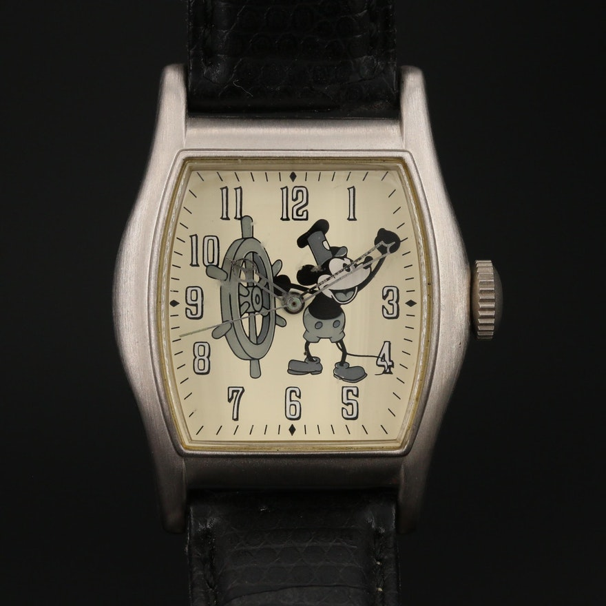 """Mickey Mouse """"Steamboat Willie"""" Limited Edition Disney Quartz Wristwatch"""