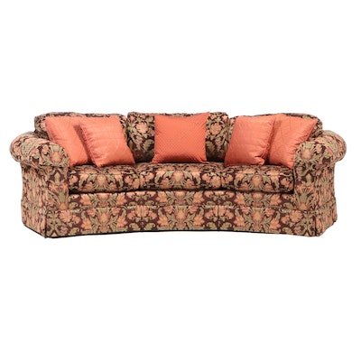 Temple Inc. Upholstered Sofa in Floral Tapestry, Late 20th Century