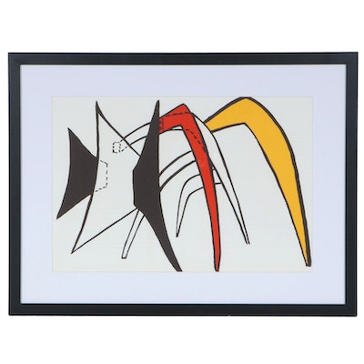 "Alexander Calder Double-Page Color Lithograph for ""Derrière le Miroir,"" 1963"