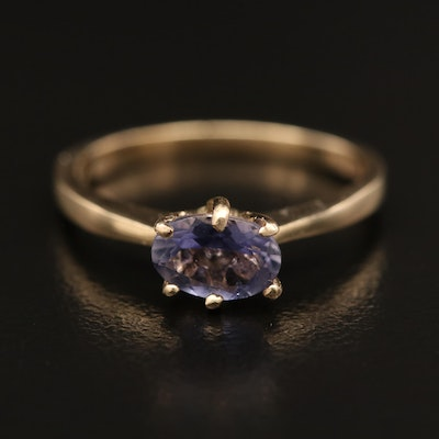 14K Tanzanite East-West Ring