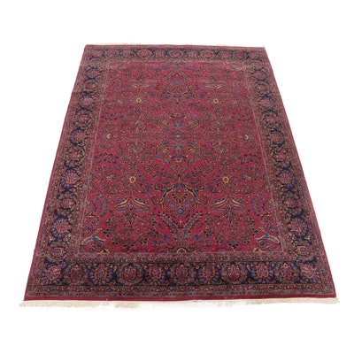 8'11 x 12'1 Power Loomed Persian Sarouk Style Wool Rug