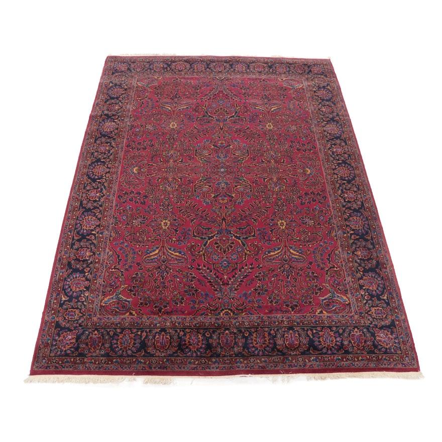 8'11 x 12'1 Power Loomed Persian Sarouk Style Wool Rug