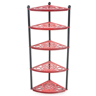 Le Creuset Enameled Cast Iron Corner Standing Pot Rack