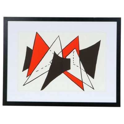 "Alexander Calder Double Page Color Lithograph for ""Derrière le Miroir"""