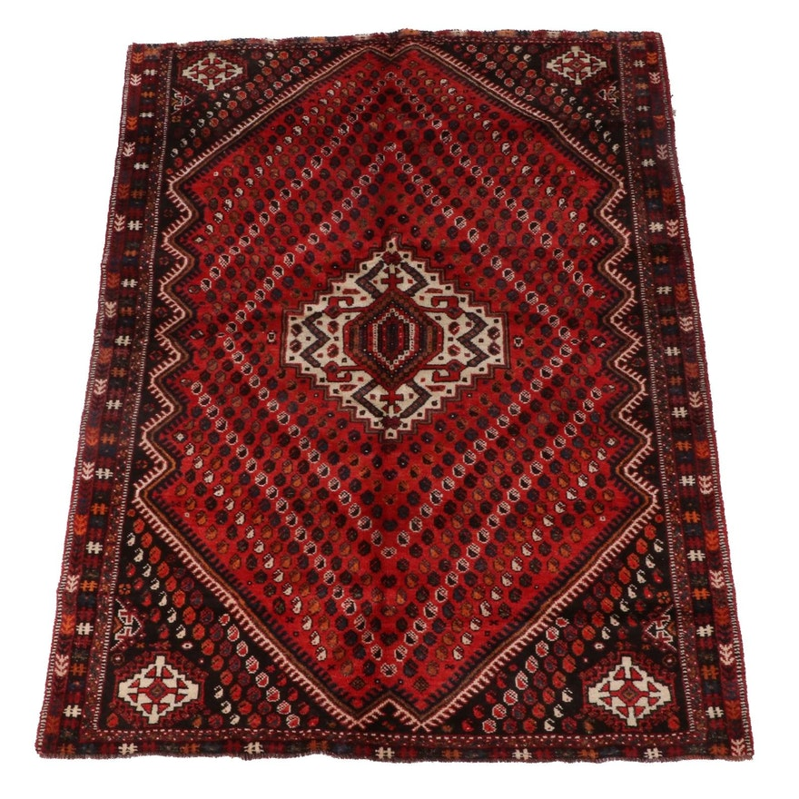 5'10 x 8'2 Hand-Knotted Persian Afshar Wool Area Rug
