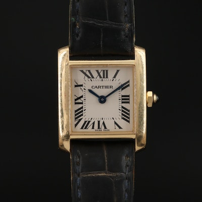 Cartier Tank Francaise 18K Gold Quartz Wristwatch