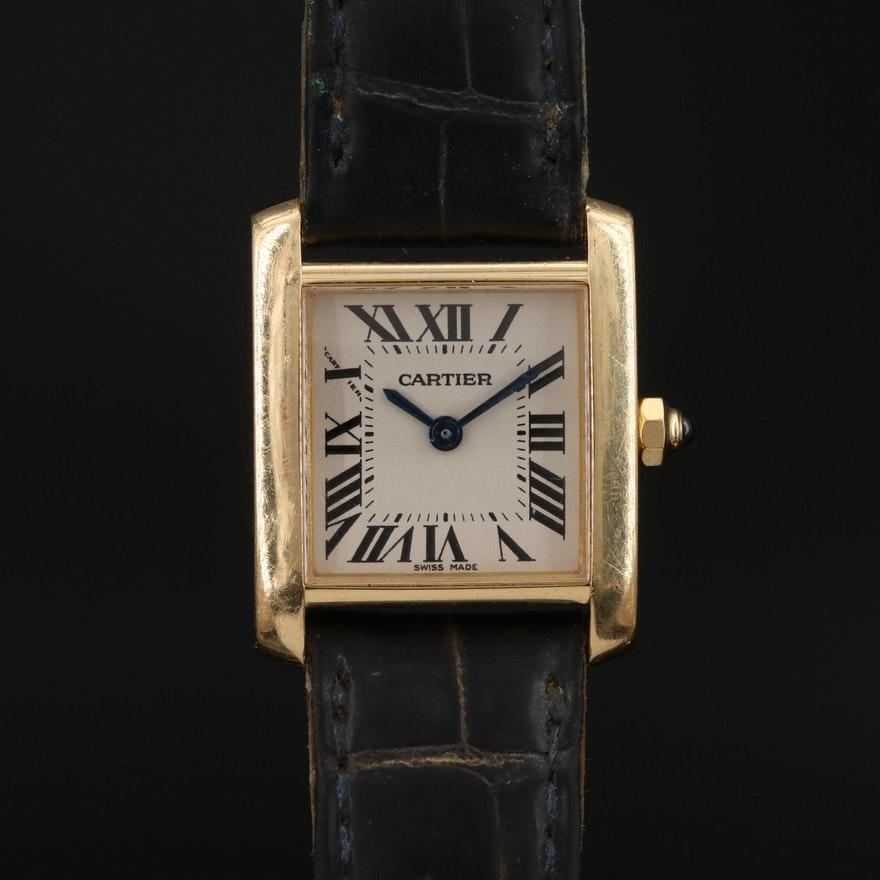 Cartier Tank Francaise 18K Gold Quartz Wristwatch