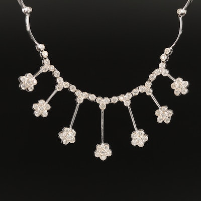 14K 2.00 CTW Diamond Floral Necklace