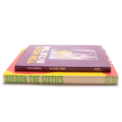 """Signed First Printing """"In Our Time"""" by Tom Wolfe with """"The Sixties"""" by R. Avedon"""