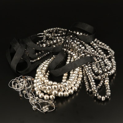 Multi-Strand Beaded Necklaces