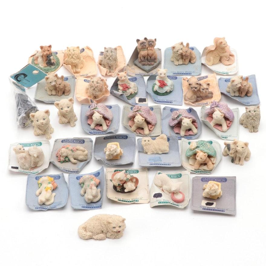 United Design Itty Bitty World Miniature Animals, Cats and Kittens