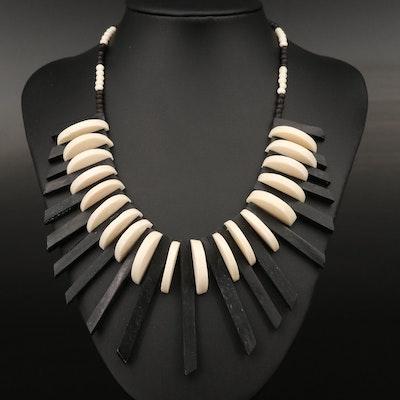 Bone Fringe Necklace