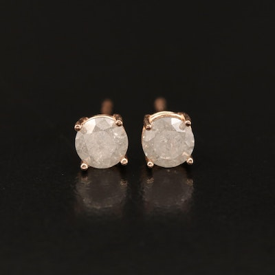 14K Rose Gold 0.78 CTW Diamond Stud Earrings