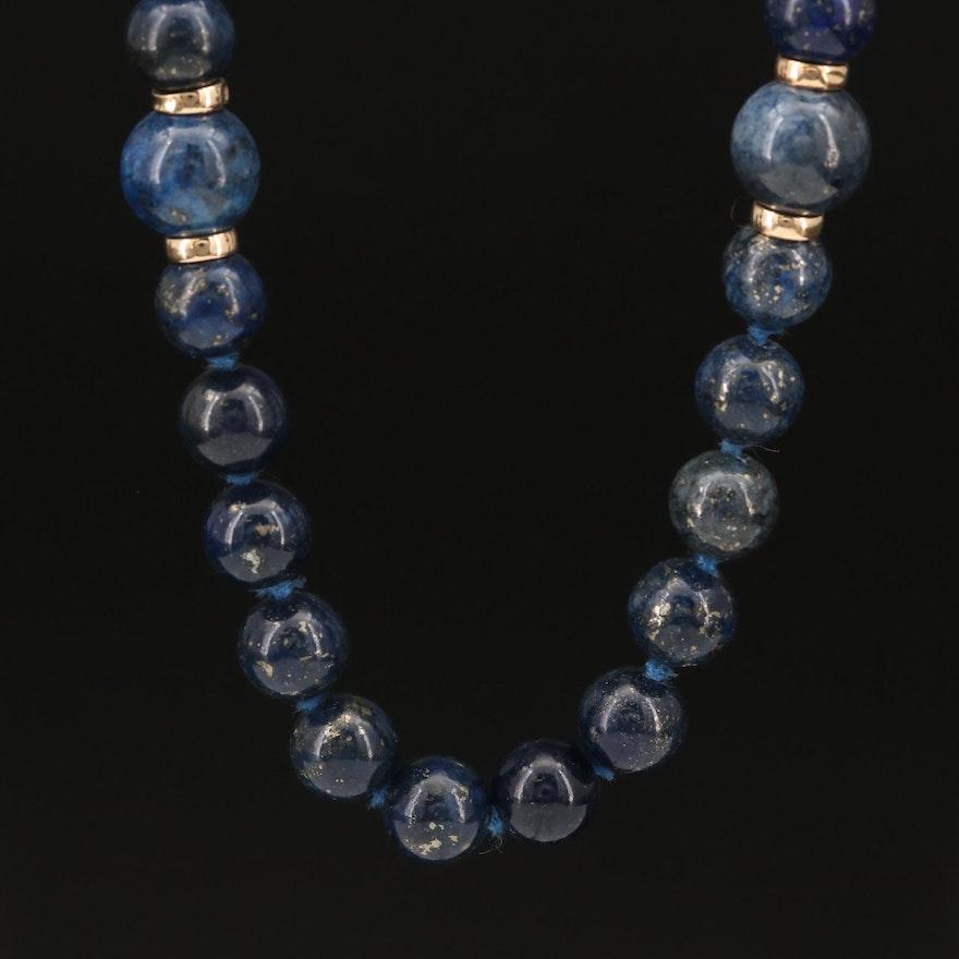 Lapis Lazuli Beaded Neckalce