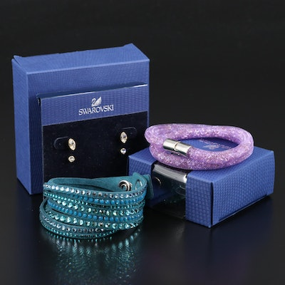 "Swarovski Crystal Including ""Harley"" Earrings and ""Stardust"" Bracelet"