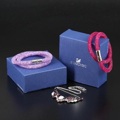 "Swarovski Crystal Jewelry Featuring ""Impulse"" Stationary Necklace"