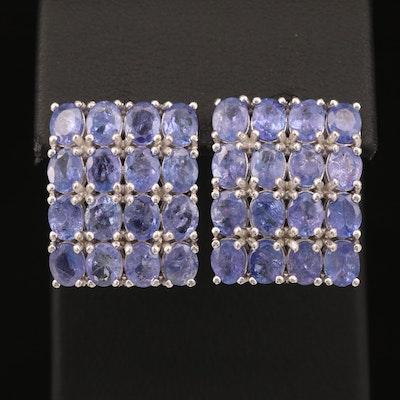 Sterling Tanzanite Drop Earrings
