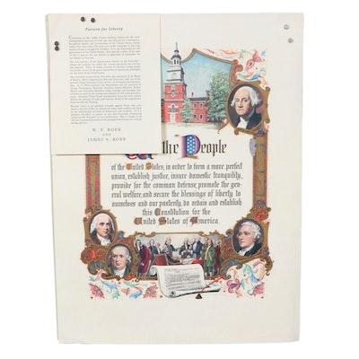 "Talio-Crome Print ""We the People,"" Mid-20th Century"