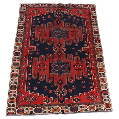 6'5 x 10' Hand-Knotted Caucasian Kazak Wool Area Rug