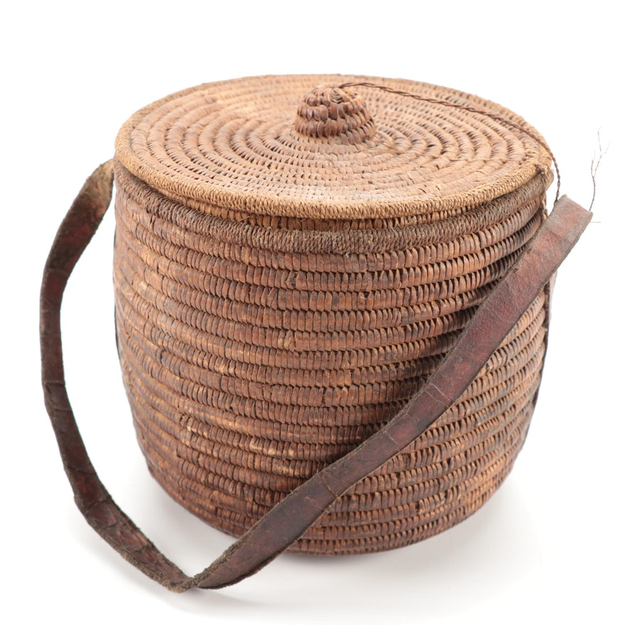 Inuit Style Lidded Basket