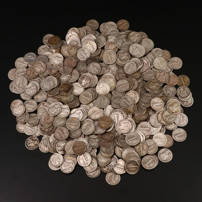 500 Mercury Silver Dimes