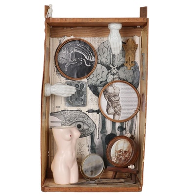 Jacque Parsley Mixed Media Assemblage, Late 20th Century