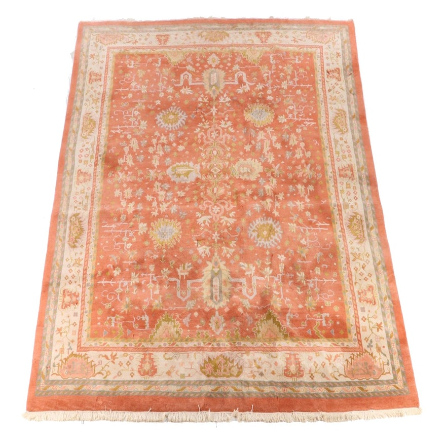 11'11 x 15'5 Hand-Knotted Indian Agra Room Size Rug