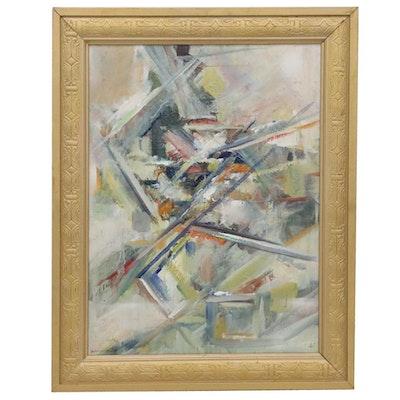 Sueo Serisawa Abstract Oil Painting, circa 1953