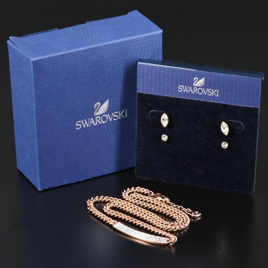 """Swarovski Crystal Jewelry Featuring """"Vio"""" Pavé Necklace"""