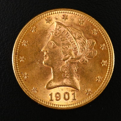 1901 Liberty Head $10 Gold Eagle