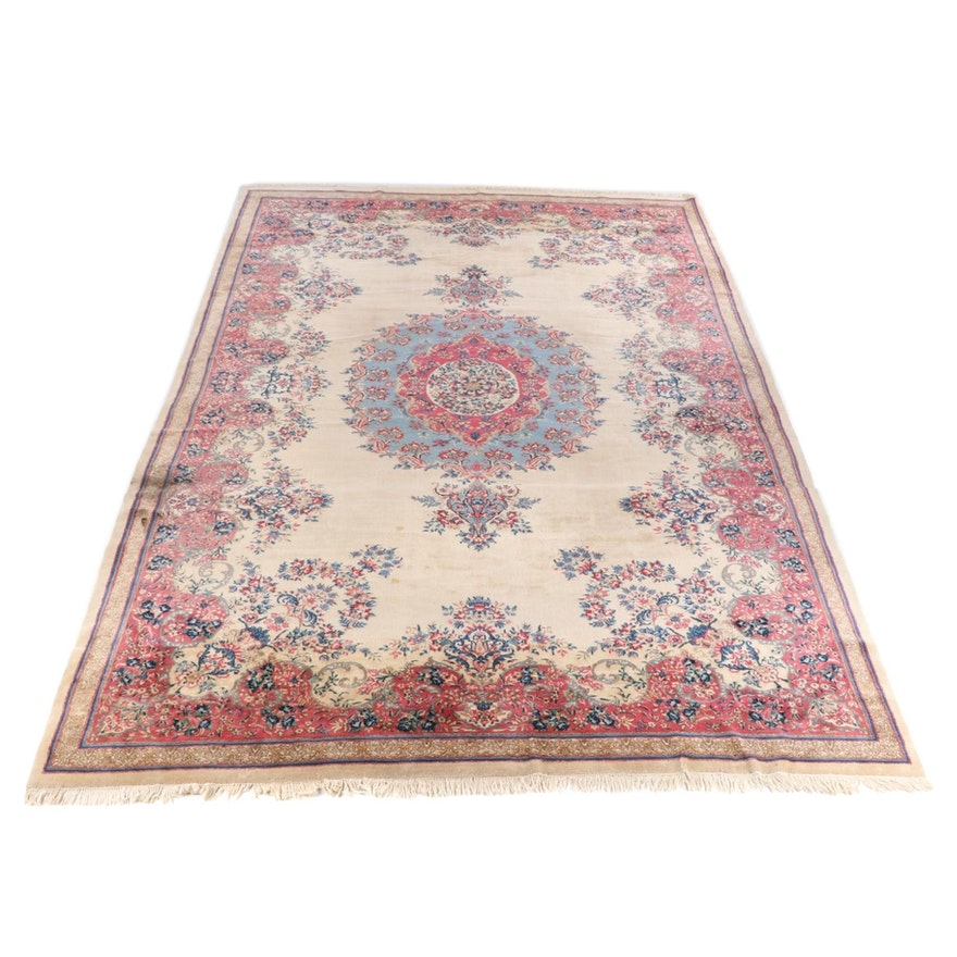 11'6 x 21'3 Hand-Knotted Persian Kerman Wool Room Size Rug