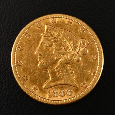 1888-S Liberty Head $5 Gold Half Eagle