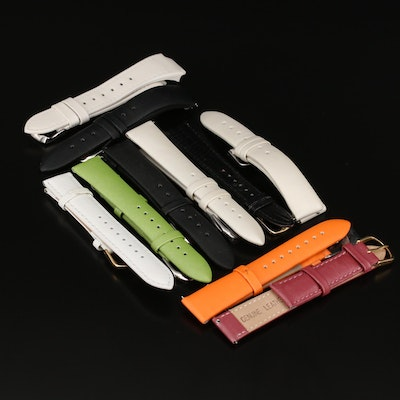 Nine Various Watch Bands