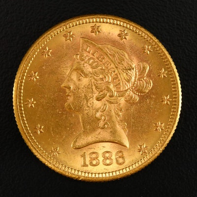 1886-S Liberty Head $10 Gold Eagle