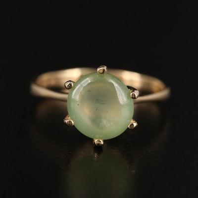 14K Prehnite Ring