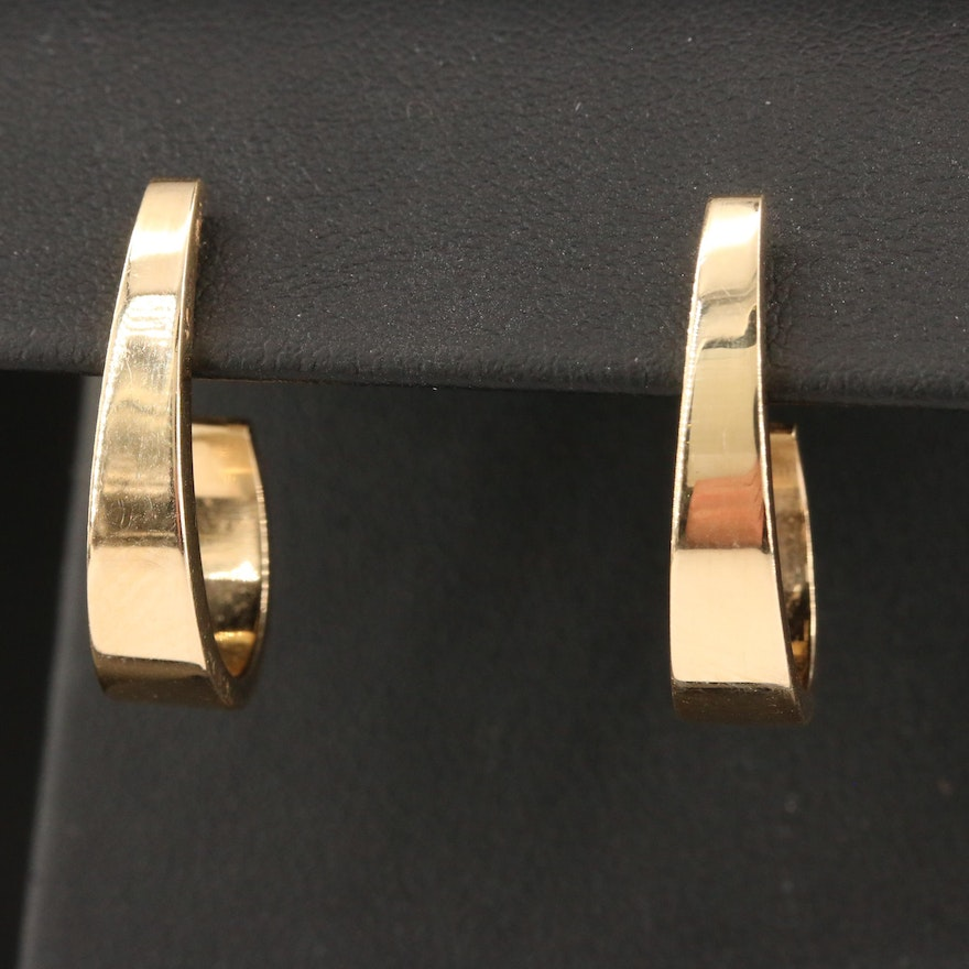 14K J-Hoop Earrings