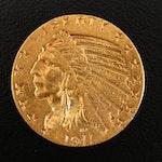 1911-S Indian Head $5 Gold Half Eagle