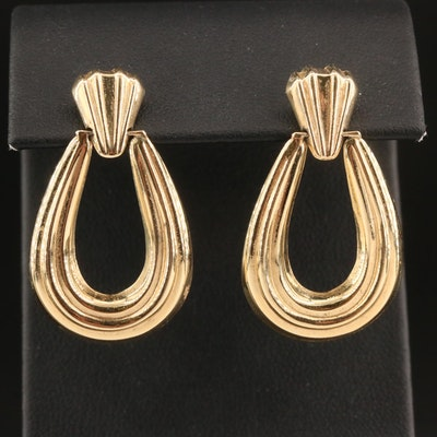 14K Electroformed Door Knocker Earrings