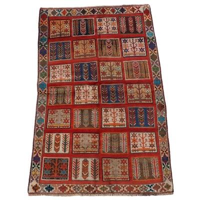 3'6 x 5'11 Hand-Knotted Persian Bakhtiari Garden Area Rug