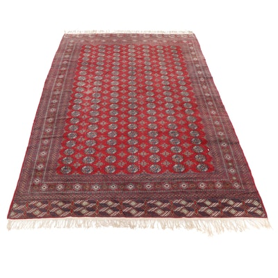 10'2 x 15'11 Hand-Knotted Pakistani Turkmen Bokhara Room Size Rug