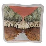 Michael Barnes Porcelain Wall Sculpture of Face, 2006