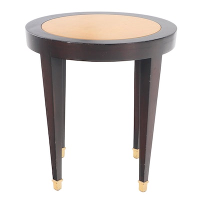 Donghia Two-Tone Gilt-Footed Side Table