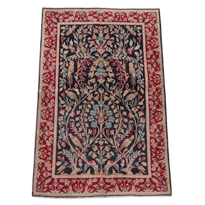 "2'11 x 4'11 Hand-Knotted Persian Tabriz ""Tree of Life"" Wool Rug"