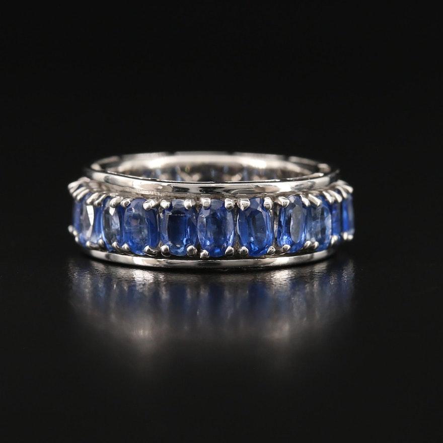 Sterling Silver Kyanite Spinner Ring