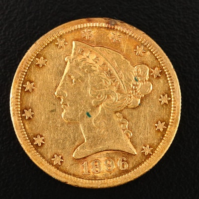 1896-S Liberty Head $5 Gold Half Eagle