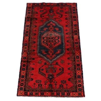 3'7 x 7'2 Hand-Knotted Anatolian Kula Wool Area Rug